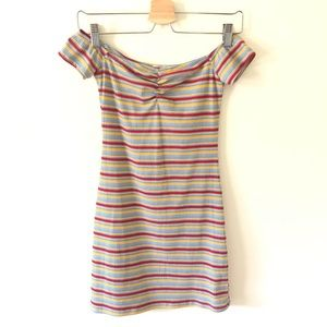NWOT UO Off the Shoulder Striped Bodycon Dress
